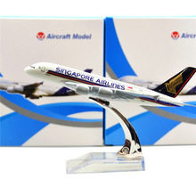 Singapore Airlines Airbus 380 16cm model airplane kits child Birthday gift plane models toys  Christmas gift