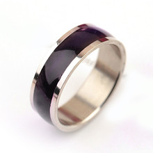 (1 pieces/lot) 100% Stainless Steel Ring Changing Color Mood Ring Men Fine Jewelry Rings for women Factory Dirct Wholesale