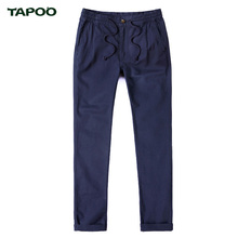 TAPOO New Spring and Summer Leisure Plain Retro Tooling Agents Trousers Casual Tactical Cargo Pant Male Military Straight Pants(China)