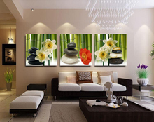 3 Panels Narcissus with stones Print Painting for Living Room Wall Art Picture Gift Home Decoration THR015