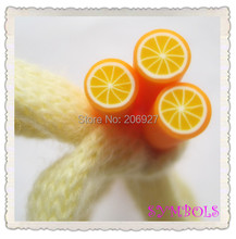 5pcs A-05 5mm Cute Orange Fruit Cane Fancy Nail Art Polymer Clay Cane Nail Art Decoration(China)
