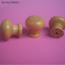 29mm Wooden Kitchen Cabinet Drawer Knobs Cupboard Mushrooms Handles Closet Cabinet Bars Wooden Furniture Solid Pulls Bookcase(China)