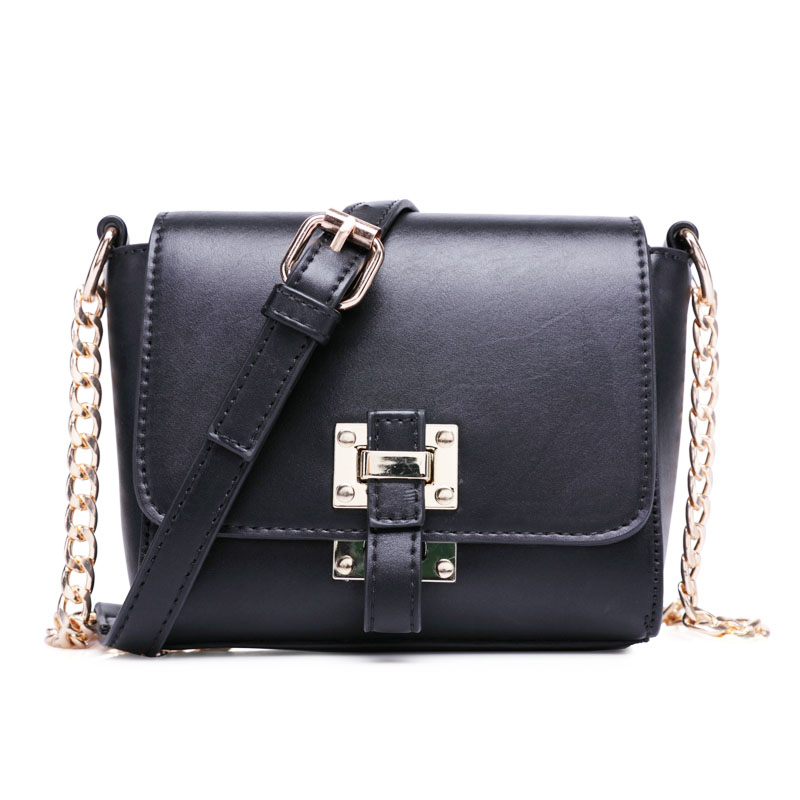 2017 New Fashion Sweet Mini Messenger Bags Chains High Quality PU Leather Women Shoulder Bags Girls Crossbody Flaps Ladies Purse<br><br>Aliexpress