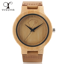 YISUYA 2017 Wooden Watches Game of Thrones Wolf Theme Simple Original Nature Wrist Watch Sport Clock Xmas Gift Winter is Coming(China)