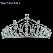 Vintage Style Women Tiara Royal Crown Bridal Wedding Hair Jewelry with Realy Austrian Crystals SHA8746