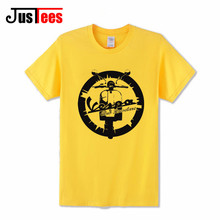2017 New Summer Fashion Vespa Vintage motorcycle Logo Men T shirts O-Neck Tee Men's great quality Clothing Hip Hop T-shirts male(China)