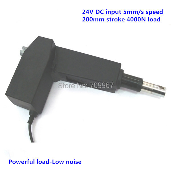 4000N load 200mm stroke 5mm/sec speed 24V DC linear actuator for medical hospital electric bed electric sofa<br>
