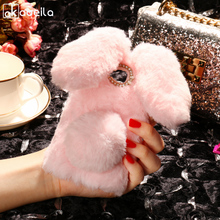 Buy AKABEILA Silicon Case ZTE Blade A5 Pro Cases Rabbit Hair Bling Diamond ZTE Blade AF3 A3 Soft TPU Cute Anti-knock Cover for $7.47 in AliExpress store