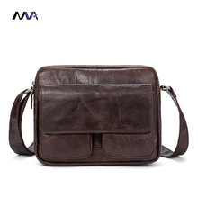 MVA Crossbody Bags Men's Bags Genuine Cowhide Leather Man Shoulder Bag Vintage Male Messenger Bag Small Briefcase