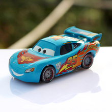 Pixar Cars 2 100% Original No.95 Blue Lightning McQueen Diecast Metal Toy Car For Children 1:55 Loose Brand New In Stock(China)