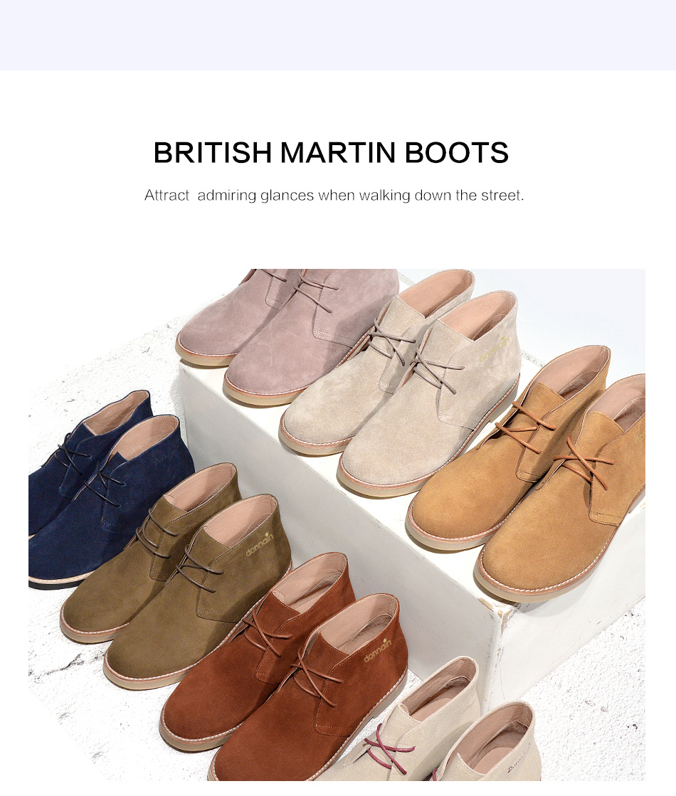 Donna-in Fashion Martin Boots Women Adult Autumn Spring 2019 Ankle Boots Suede Leather Lace-up Casual Low Heel Shoes Women (1)