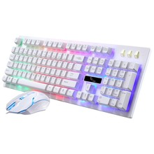 USB Wired Waterproof Backlight Led Gamer Keyboard Gaming teclado Mouse Combo 1600DPI Gaming Mouse Phone Holder for Overwatch G20(China)