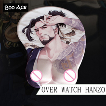 """Over Watch OW HANZO"" Anime 3D Mouse Pad Soft Breast Gaming Mousepad 26*22*3cm"
