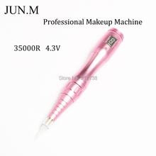 Free Shipping Professional Tattoo Machine Permanent Makeup Eyebrow Tattoo gun Rechargeable Tattoo Machines Pen For Eyebrow lip