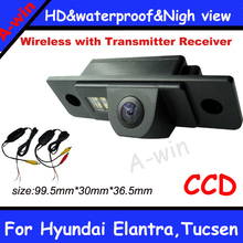 "Best car camera 2.4Ghz Wireless CCD 1/3"" car parking camera rearview camera For Hyundai Elantra Tucsen night version"