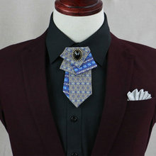 Handmade 2018 Men luxury Original Brand Novelty Design Wedding Party Club Business Collar Neck Ties Cravat Groom Arrow Neckties(China)