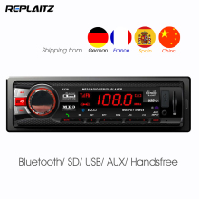 1DIN Bluetooth Car Radio Player FM Stereo In-dash Digital AUX-IN Hands-free SD/MMC/USB DC12V 4 x 50W Auto MP3 Player(China)