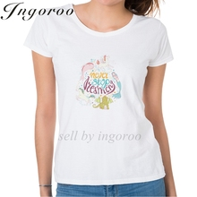 Ingoroo Casual Girl Power T Shirt Queen Graphic Woman Rose Tshirt Top Feminist Horse Tee Shirt Vegan Ladies Cute Unicorn Tops