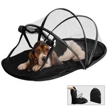 Mesh Portable Folding Dog House Camping Tent Waterproof Dog Cat Fence Puppy Kennel Indoor Outdoor Exericise Play Dog Bed Black