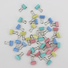 60PCS/lot 15mm Colorful Metal Binder Clips Paper Clip Office Stationery Binding Supplies(China)