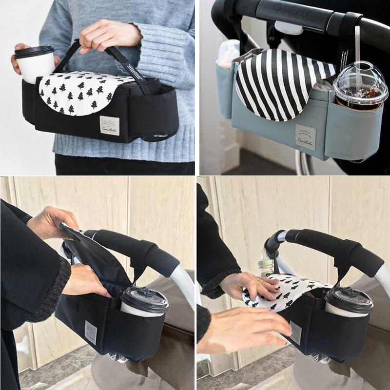 Baby Nappy Changing Bag Diaper Holder For Stroller Pram Pushchair 35x12x12cm