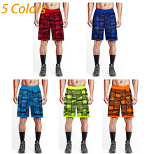 Basketball Shorts Mens Sport Trousers Printed Knee Length Athletic Shorts Training Fitness Quick-drying Loose Running Shorts