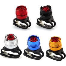 LED Waterproof Bike Bicycle Cycling Front Rear Tail Helmet Red Flash Lights Safety Warning Lamp Cycling Safety Caution Light(China)