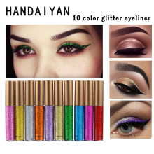 New HANDAIYAN Brand Shining Glitter Liquid Eyeliner Pencils Long Lasting Blue White Color Shimmer Eye Liner Make Up Cosmetics(China)