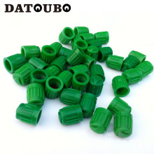 DATOUBO 100 pcs high quality green color plastic Car Tyre wheel Valve Cap,car universal valve stems cap. Promotion and wholesale(China)