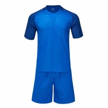 Blue football jerseys breathable quick dry mens boys soccer jerseys sports kits youth custom football training match uniforms