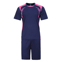 LIBO 2016 New Soccer Jersey Set Kids Football Kits Youth Men Futbol Training Suit Blank Breathable Short Sleeve Tracksuits