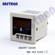 Smart X203A, single phase panel meter, amp meter, ampere meter 1A/5A CT connection, Cl. 0.5, measure current 96*96, 72*72(China)