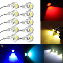 Motor Car Auto Truck DC12V 24V White 9W 23MM LED Eagle Eye Light Daytime Running DRL Backup Lamp 12V 24V Yellow Blue Red Green