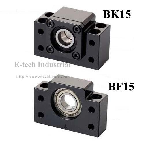 Ballscrew End Support BK15 + BF15 For SFU2005 SFU2010 Ball screw End Support BF15BK15 with deep groove ball bearing inside<br>