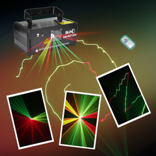 SUNY Remote DMX 200mW RGY Xmas Laser Stage Lighting Scanner DM-RGY200 Dance Party Show Light Projector Mix Yellow Red Green Beam(China)