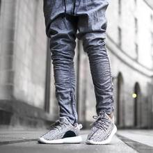 korean hip hop fashion pants with zippers factory connection mens urban clothing joggers men(China)