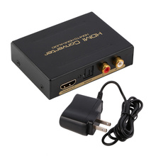 HDMI Audio Extractor Splitter to SPDIF RCA Stereo L/R Analog Output ConverterSplitter Adapter with Power Adaptor US Plug New