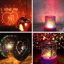 Baby Sleeping Rotating Ocean Star Projector Starry Sky Night Light Projection Lamp Xmas LED Night Lamp