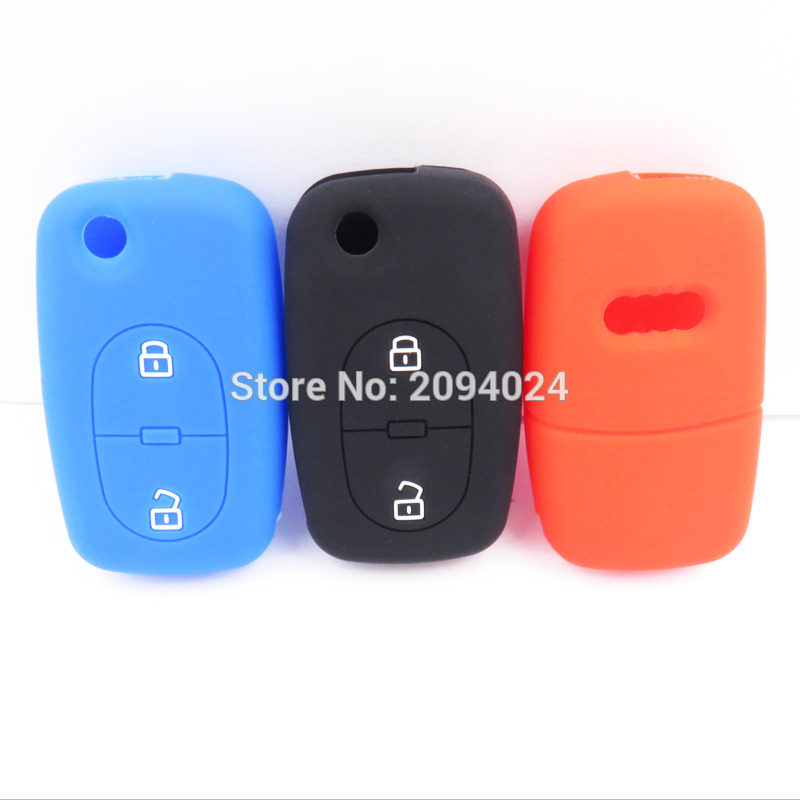 Silicone Car Key Fob Cover Case Audi A2 A3 A4 A6 A8 TT 2Button Remote Key Case Car Audi Interior Auto Accessories