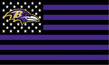 Baltimore Ravens black and purple background with stars and stripes Flag 3FTx5FT Banner 100D Polyester flag 90x150cm(China)