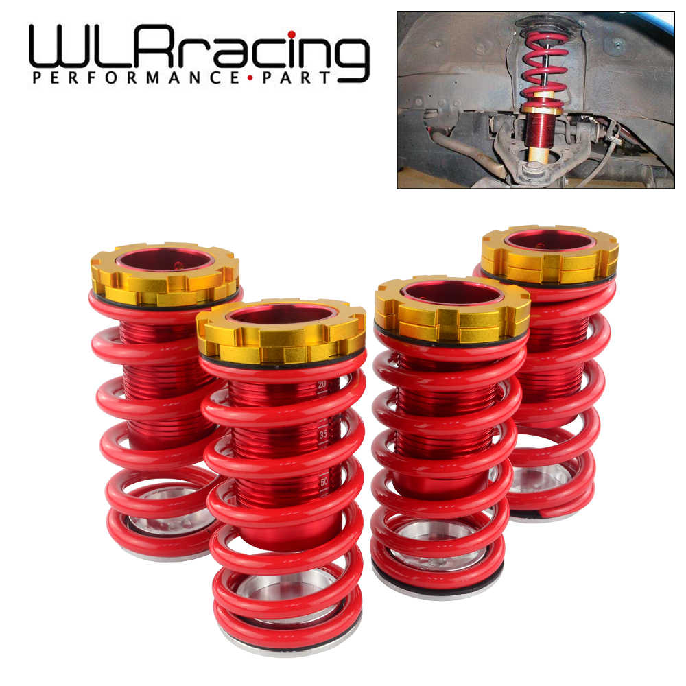 Black Springs Blue Sleeves Replacement for Civic//CRX//Del Sol//Integra Aluminum Scaled Coilover Kit