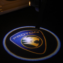 2PCS LED car laser projector Logo Ghost Shadow Light universal for Proton wira waja exora savvy gen2