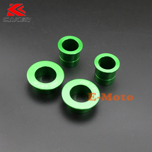 CNC Billet Aluminum Front & Rear Wheel Hub Spacer Kit For Kawasaki KX125 KX250 KX250F KX450F Dirt Bike Motorcycle Motocross