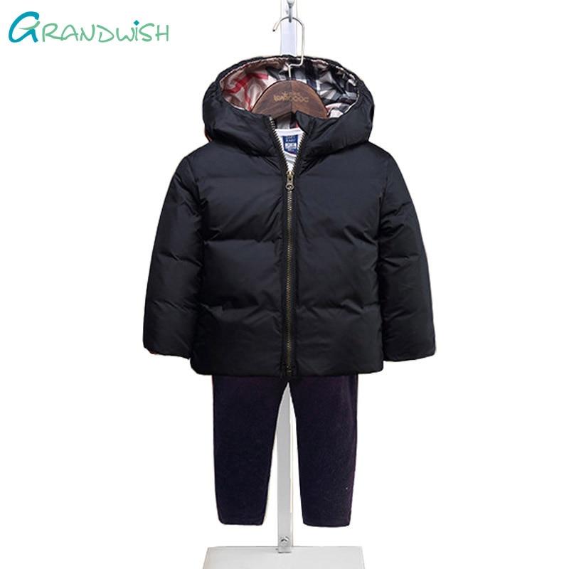 Grandwish New Winter Boys Cool Down Jackets Kids Printing Hooded Warm Coat Girls Outerwear Kids Zipper Clothes 3T-10T, SC351Одежда и ак�е��уары<br><br><br>Aliexpress