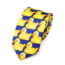 Men's Yellow Rubber Duck Tie Fashion Necktie From Hot TV Show How I Met Your Mother 8CM Width(China)