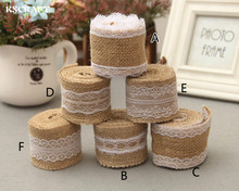 Buy KSCRAFT 2 Meter 5cm Jute Burlap rolls Hessian Ribbon Lace rustic vintage wedding decoration supplies diy ornament burlap for $1.88 in AliExpress store