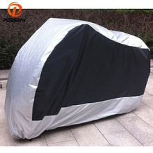 POSSBAY Universal Motorcycle Covers Dustproof Waterproof Scooter Covers Outdoor UV Rain Protector For Honda/Harley/Yamaha/Suzuki
