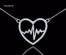 MCSAYS Viking Jewelry Love Heart Rate Pendant Antique Hollow Viking Necklace Fashion Chocker Necklace Amulet Gift for Lover 4SL(China)