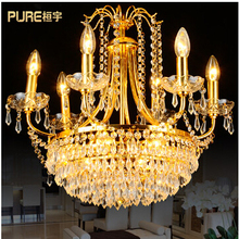 Crystal chandelier lamp living room European-style garden restaurant fashion crystal lamps bedroom lamps