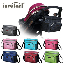 Stroller Bag For Mother Diaper Bag Maternity By Insular Nappy Changing Bag Care Thermal Insulation Baby Waterproof Mommy Packs(China)
